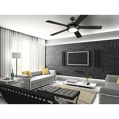 Westinghouse Comet 52-Inch Matte Black Indoor Ceiling Fan, Light Kit with Frosted Glass (Black 2 Pack) by Westinghouse  (Image #6)