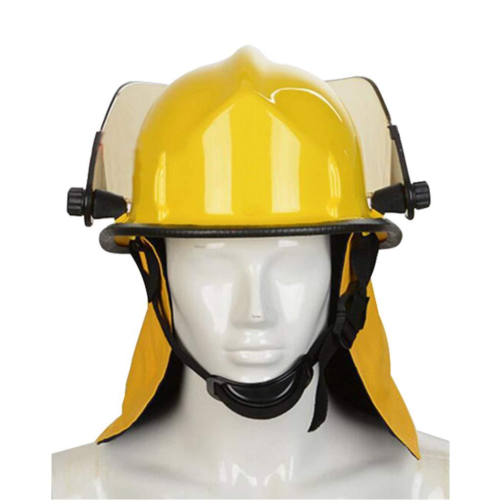 Hard Hat Fire Safety Helmet, Firemen Protection Hard Hat Rescue Site Safety Helmet, Flame Retardant High Temperature Resistance Mask