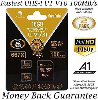 Amplim Micro SD Card Plus adaptador (clase 10 UHS-I MicroSDXC Extreme Pro Memoria) 64 GB Ultra alta velocidad 90 MB/s 600 x UHS-1 Microsd SDXC Pack teléfono celular Tablet Flash (64G rendimiento