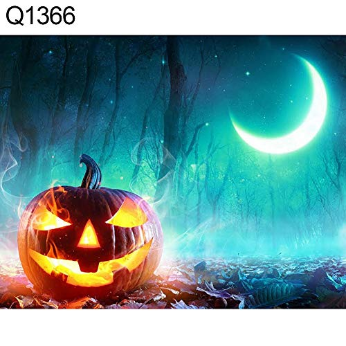 narutosak 5D Diamond Painting Spooky Halloween Pumpkin Grave Full Painting DIY Wall Cross Stitch Decor - Q1366 -
