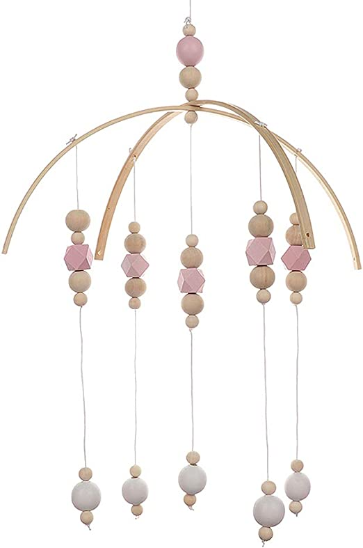 Purple Baby Wind Chimes,Baby Crib Mobile,Baby Crib Mobile Hanging Decoration,Felt Ball Mobile,for Bedroom Ceiling Decor Photography Props