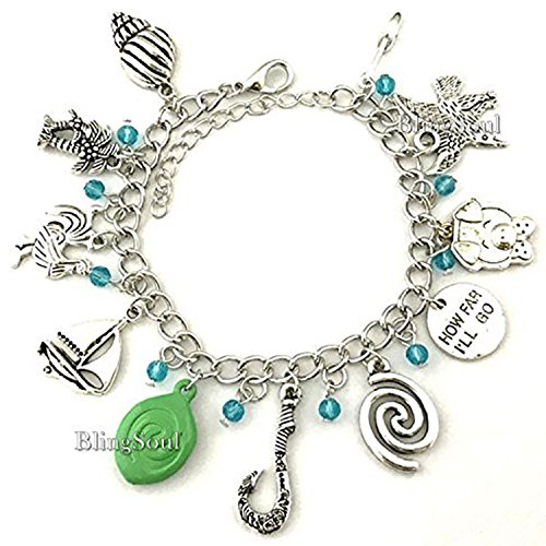 BlingSoul Maui Moana Charm Bracelet - Maui Hook Jewelry Moana Gift Merchandise for Women by BlingSoul (Image #1)'