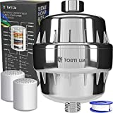 Torti Lia Shower Water Filter Multi-Stage Shower Filter For Hard Water Removes