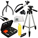 SSE Deluxe Tripod Accessory Bundle Package for GoPro HERO+ - HERO4 Session - HERO4 - HERO3+ - HERO3 - HERO & HERO+ LCD which includes - 50-Inch Tripod - Bendable 6.5-Inch Tripod - GoPro Adapter - Micro HDMI Cable - Rugged Hard Carrying Case - Bobber Handle & Microfiber Cleaning Cloth