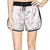 Women's Dream Magic Unicorn Lover Beach Gym Mini Shorts