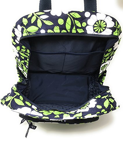 Vera Bradley Campus Backpack with Solid Color Interior (Updated Version) (Lucky You with Navy Interior)