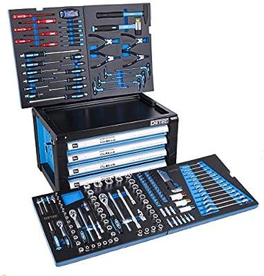 Detec. Herramienta/caja de herramientas en el pecho con surtido de herramientas de 175: Amazon.es: Bricolaje y herramientas