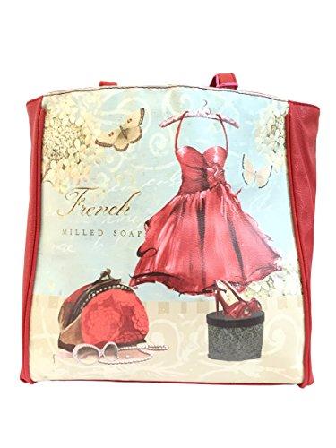 Borsa donna Camomilla, a Spalla, French Dress, ecopelle stampata chisura zip COD. 13627