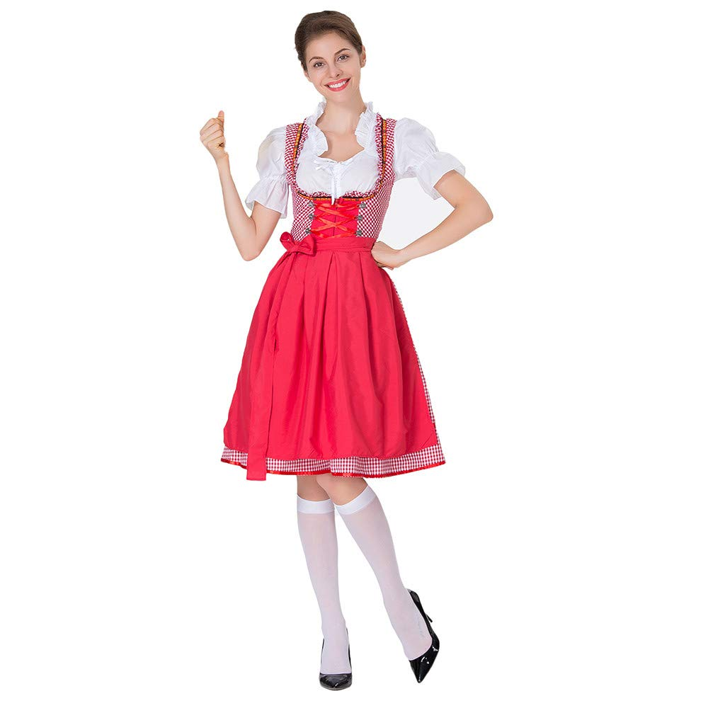 HEFEITONG Women's Oktoberfest Costume Bavarian Beer Girl Maid Dress KIEOKKO242 29.27