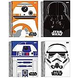 Caderno Universitário Star Wars Trends 01 Matéria com 96fls Capa Dura, Pacote com 04 unidades Sortidas e Aleatórias Formato 200x275mm