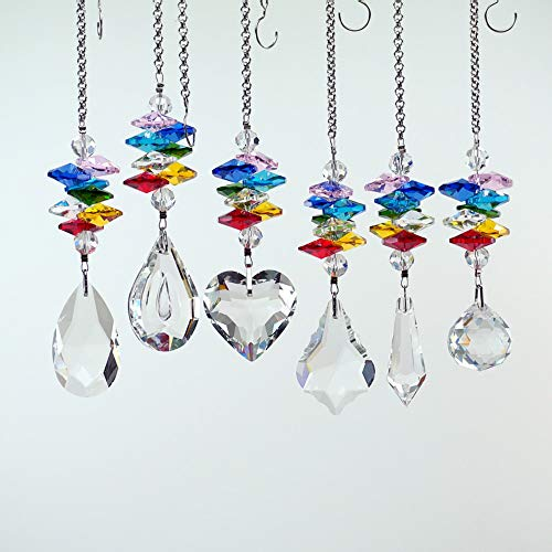 - SunAngel Colorful Jewelry Crystals Pendants &Chandelier Suncatchers Prisms Hanging Ornament Prisms Rainbow Crystal Pendants (6 Packs)