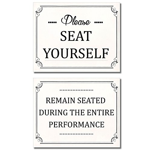 - Bathroom Funny Wall Art Prints - Set of two 8x10 Photos - Please Seat Yourself