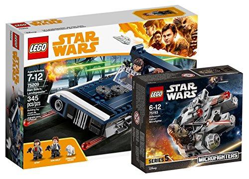 Star Wars LEGO Han Solo's Landspeeder 75209 Spielzeug + LEGO 75193 - Millennium Falcon Microfighter, Spielzeug
