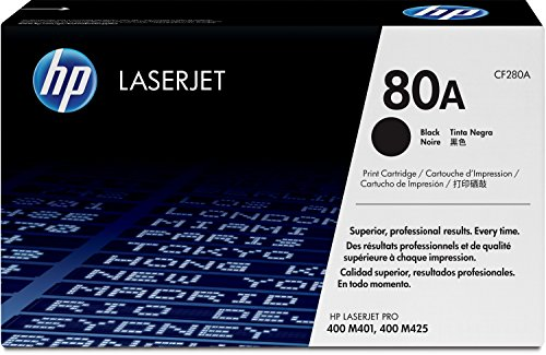 HP 80A (CF280A) Black Original LaserJet Toner Cartridge (Hp M425dn Printer)