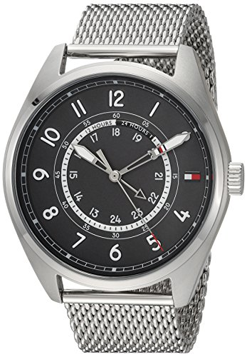 Tommy Hilfiger Men's 'Sport' Quartz Stainless Steel Casual Watch, Color Silver-Toned (Model: 1791370)