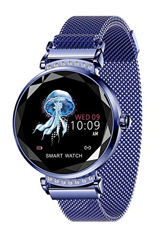 Watches for Women,Smart Activity Fitness Tracker,Fashion Bluetooth Heart Rate Blood Pressure Luxury Sleep Monitor IP67 Diamond Reminder Camera Dress (Best App To Monitor Ovulation)