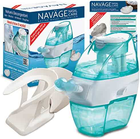 Navage Nasal Irrigation Starter Bundle: Naväge Nose Cleaner, 36 SaltPod Capsules, and Countertop Caddy. $122.85 if purchased separately; you save $22.90 (19%)