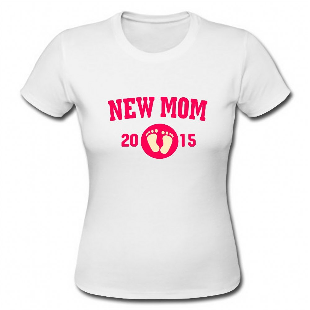 New Mom 2015 Gift For New Mother Mommy Funny Ladies Short Sleeve T-Shirt Tee