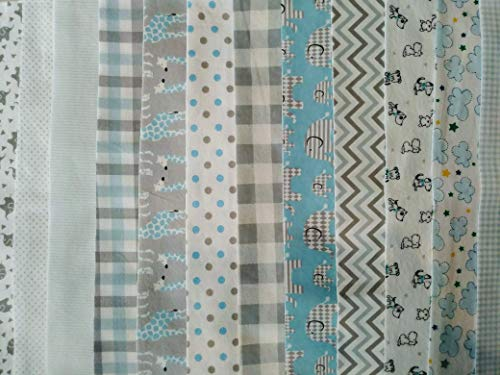 Bag Jelly Roll - Contemporary Pre-Cut Flannel Quilting Pieces: 20 pc Jelly Rolls (Baby Blues 2.5