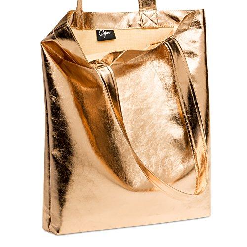 Tracolla Ts1047 Oro Donna Shopper A Rosa In Borsa Caspar Metallico Bag zqx0nEY