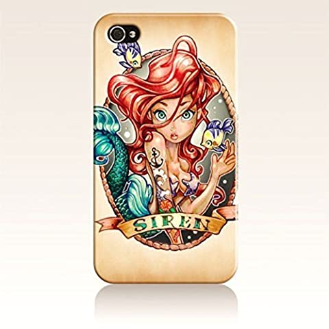 SUUER Rubber Silicone The Little Mermaid Designer Personalized Custom Plastic Rubber Tpu CASE for iPhone 5 5s Durable Case (Iphone 5c Speck Case Cheap)