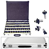 New 80pc 1/2inch Shank Tungsten Carbide Router Bit Set w/CASE 2 Blade 3 Blade