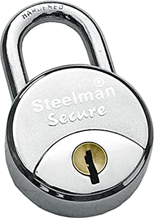 steelman Secure Padlock with 4 Big Keys for Door,Home and Commercial use,67 mm, MS Body, Best in Class Quality,Durability,Tensile Strength.