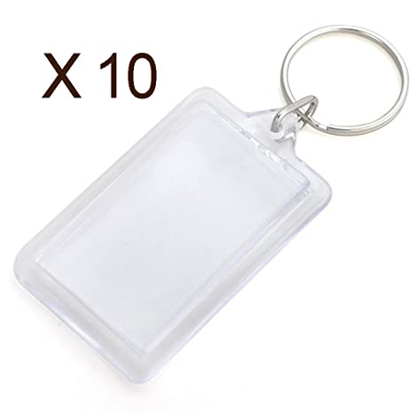 10 Llaveros portafotos para fotos de tamaño carnet, ambos ...