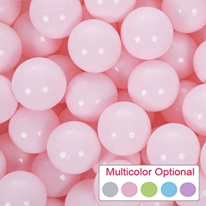 Light Blue PlayMaty Pack of 50 Macaron Pit Ball Plastic Ball Kids Swim Pit Fun Toy 50 Pieces Phthalate Free BPA Free Balls with Storage Bag for Baby Playhouse Pool Birthday Party Decoration