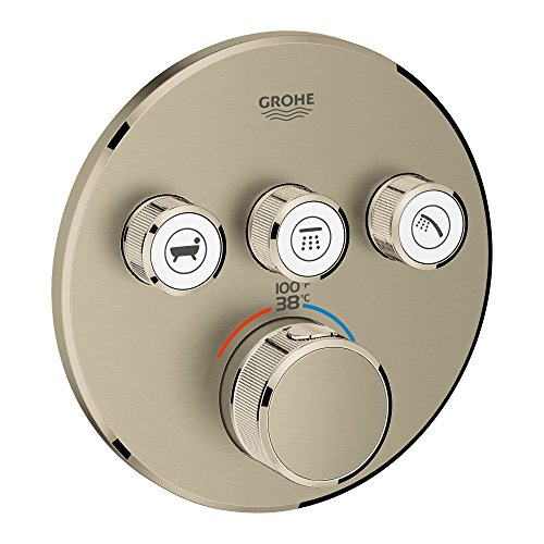 GROHE 29138EN0 29138 Round US Brushed Nickel Thm Smartcontrol 3 by GROHE