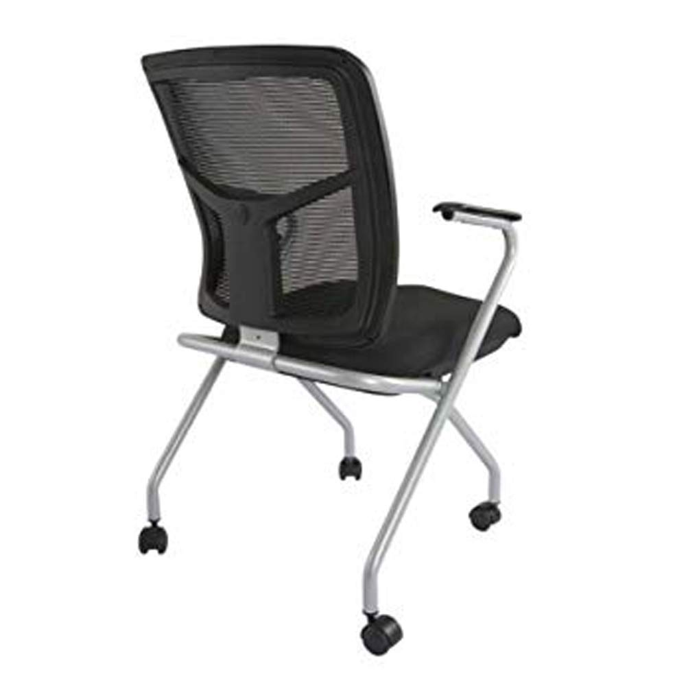Outstanding Mahmayi Aura 840Nsf Folding Guest Chair Black Modern Beatyapartments Chair Design Images Beatyapartmentscom