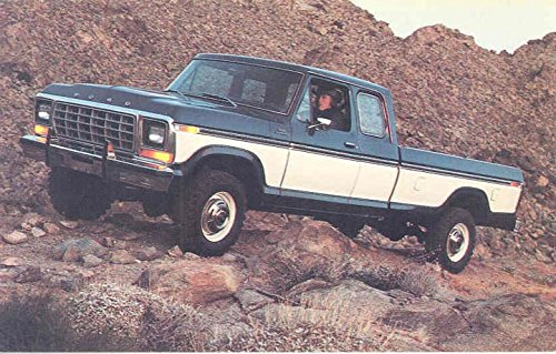 1978 Ford F250 Ranger Supercab 4x4 Truck ORIGINAL Factory Postcard