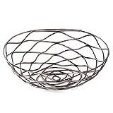 Prime Leader Metal Wire Storage Organizer Basket for Desktop Clothing Fruit Snacks Tray Kitchen Tool Holders Bronze 8.2''x8.2''x2.5''