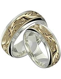 Amazon Com Sterling Silver Wedding Bands Wedding Engagement
