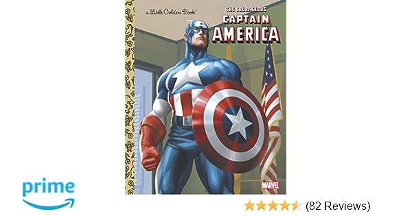 9e053a70d19 Amazon.com  The Courageous Captain America (Marvel  Captain America)  (Little Golden Book) (9780307930507)  Billy Wrecks