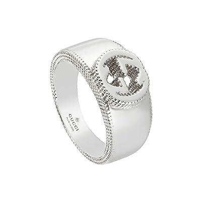 765678cab8ce Gucci Silver ring Interlocking YBC479228001014  Amazon.co.uk  Jewellery