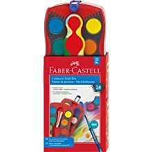Faber-Castell 125029 - Estuche de 24 acuarelas Connector, pincel Clic & Go, multicolor