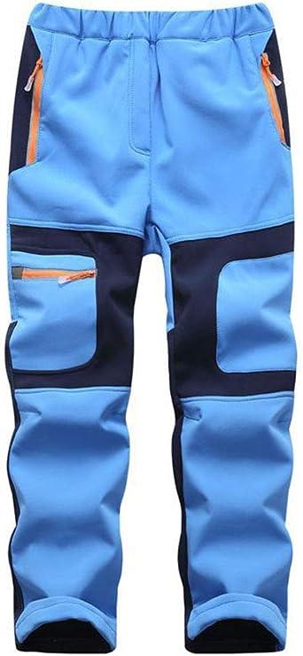DaiHan Niños niñas Pantalones Softshell Impermeable Forro ...