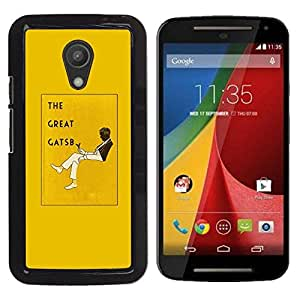 Be Good Phone Accessory // Dura Cáscara cubierta Protectora Caso Carcasa Funda de Protección para Motorola MOTO G 2ND GEN II // The Great Gatsby Book Yellow Cover Read