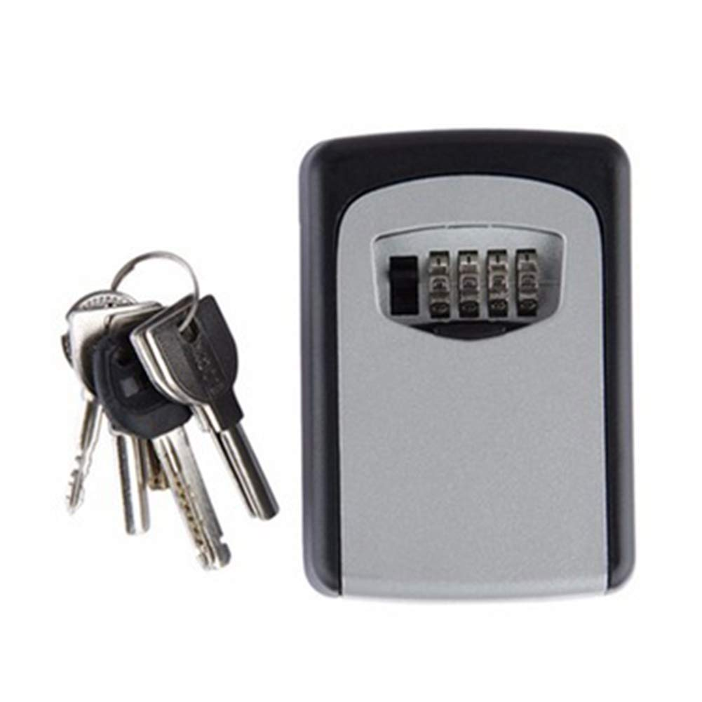 Combination Key Lock Box More Convenient Key Cabinet (90x65x30 mm) Best Outdoor Wall Mounted Key Box, Set Your Own Combination Great for Homes, Hotels, Schools or Business(Gray)