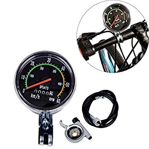 "PanelTech 26"" Motorized Bike Engine Odometer Stopwatch Cycling Mechanical Speedometer Clock Waterproof CS341 with Mounting Hardware"
