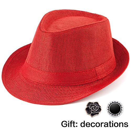 - Men Straw Hats Straw Sunhat - Red Sun Hat Women Hats for Summer Men's Hat Cap
