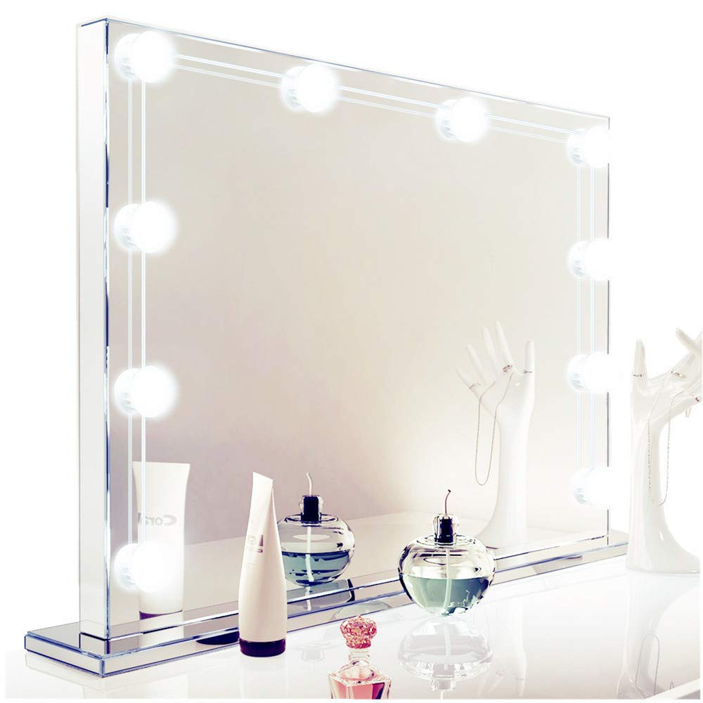 LED Vanity Mirror Lights Kit, Howllywood Style LED Lights Set for Makeup, 10 LED Dimmable Light Bulbs with USB Plug, DIY Vanity Lights kit Perfect for Bathroom Dressing room Wall (Mirror Not Included) by Facelessman