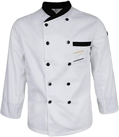 Saoye Fashion Chaqueta De Chef De Doble Botonadura Chaqueta ...
