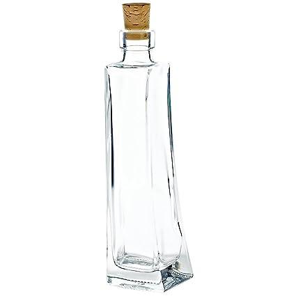 """Botella de regalo con corcho """"INVICTA"""" 200ml, botella de vidrio hecha a"""