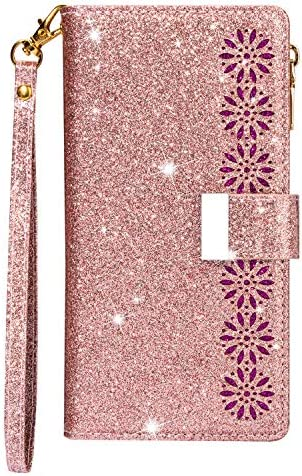 Galaxy A71 Hülle Handyhülle, Premium Leder Flip Schutzhülle [Standfunktion] [Kartenfächer] [Magnetverschluss] lederhülle klapphülle für Samsung Galaxy A71 - TTCSJ020104 Rosa Gold