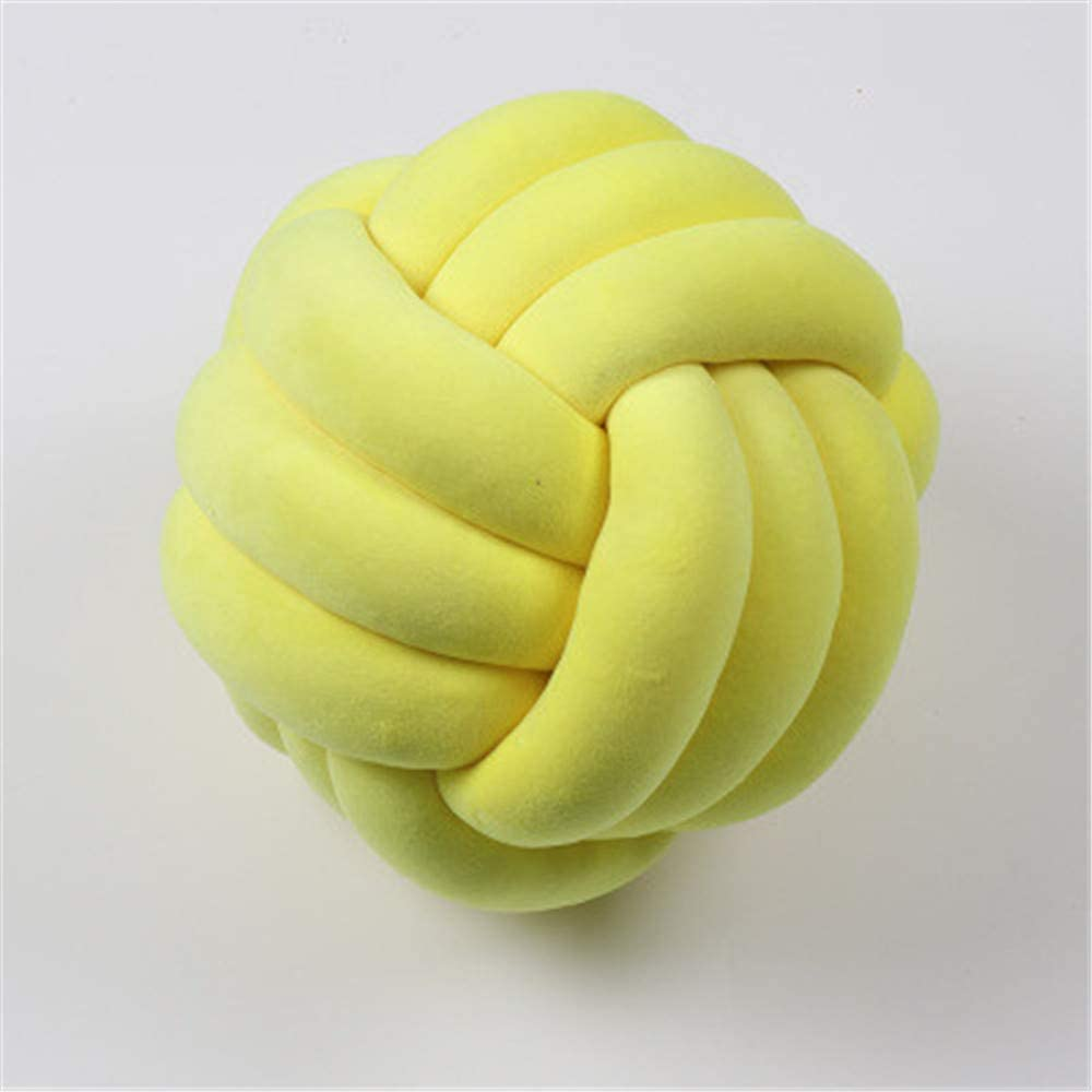RAILONCH Knots Cushion Hand Knitted Round Knotted Knot Pillow Baby Bed Room Decor Toy