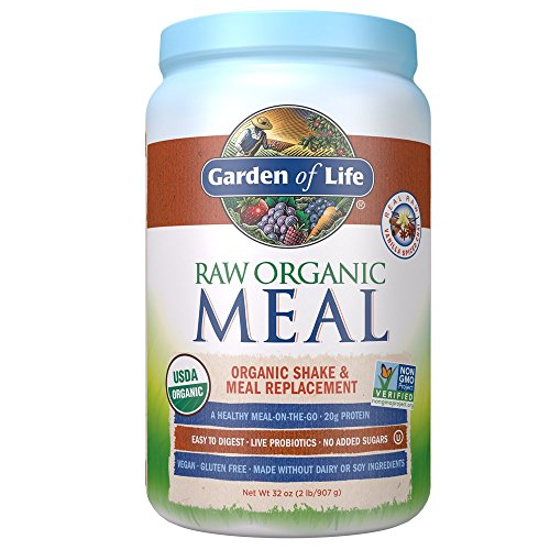 Garden of Life Meal Replacement Vanilla Chai Powder, 28 Servings, Organic Raw Plant Based Protein Powder, Vegan, Gluten-Free