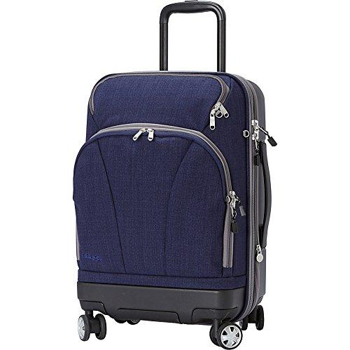eBags TLS Hybrid (Hardside/Softside) Spinner Expandable Luggage - 22-inch - Carry-On - (Brushed Indigo)