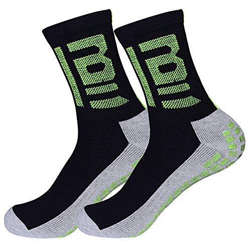THXXE Anti Slip Football Socks, Mens Sweat-proof Breathable Athletic Socks...